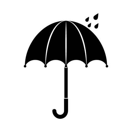 Umbrellas icon isolated illustration on white background