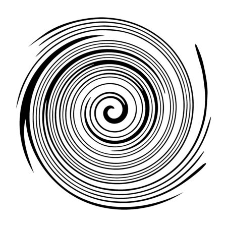 Circular twisted swirl Isolated on white background
