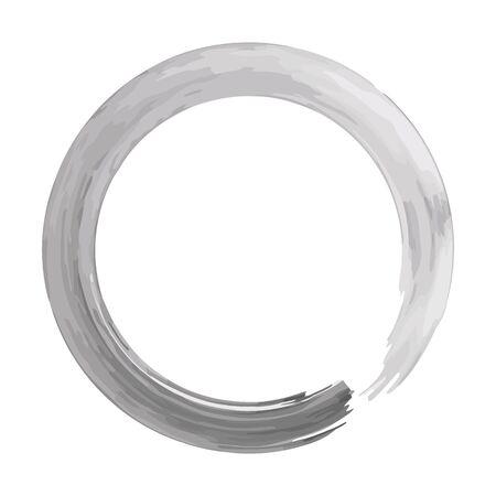 Zen circle isolated illustration on white background