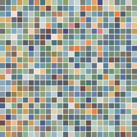 colorful abstract square mosaic texture background Иллюстрация