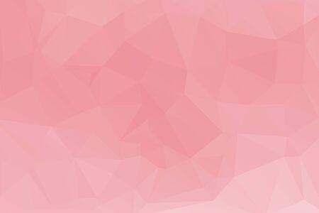 rosa polygonaler Mosaikpapierhintergrund. Vektor-Illustration