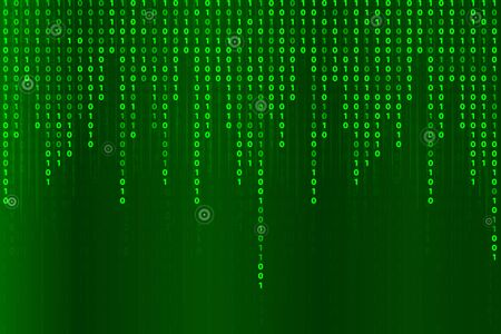 Abstract futuristic technology with binary code. matrix background with digits Ilustração
