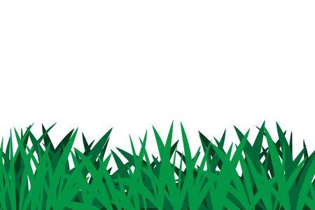 Green Meadow Grass isolated illustration on white background Ilustração