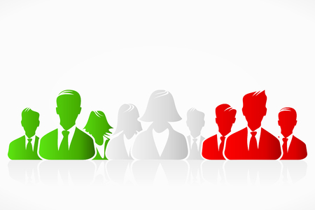 Italian, Hungarian, Mexican and Iranian flag business silhouettes