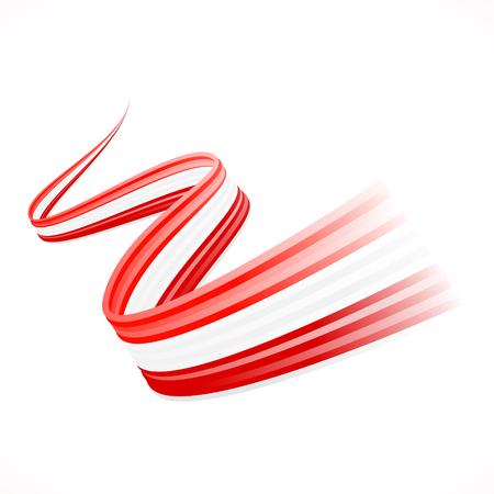 オーストリア、カナダ、デンマークの旗を振って抽象  イラスト・ベクター素材