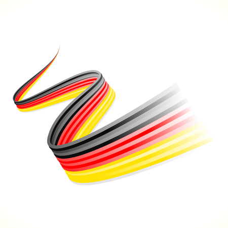 german flag: Abstract waving German flag isolated on white background Illustration
