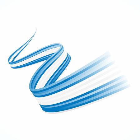 Abstracte golvende Griekse, Argentijnse en Israëlische vlag Stock Illustratie