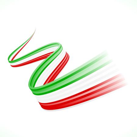 イタリア、メキシコ、ハンガリー語、イランの旗を振って抽象