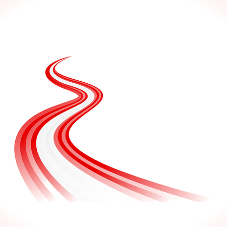 expressway: Abstract waving Austrian, Canadian and  Denmark flag