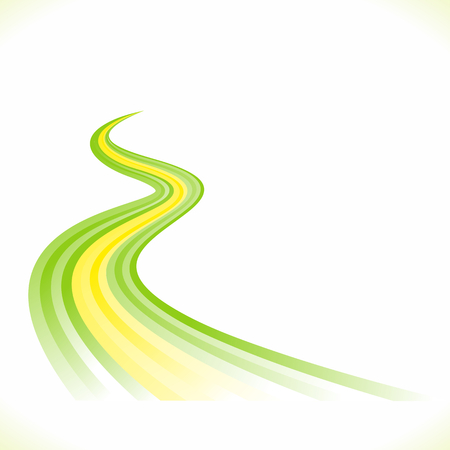 Abstract Brazilian waving flag isolated on white background Vector