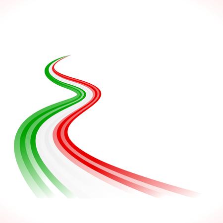 Abstract zwaaien Italiaans, Mexicaans, Hongaarse en Iraanse vlag