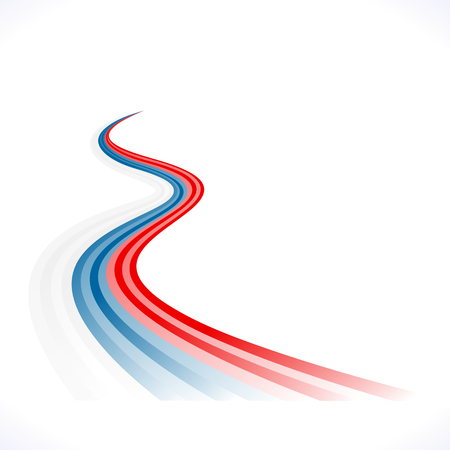 Abstract waving Russian, Czech and Slovakian flag Vector