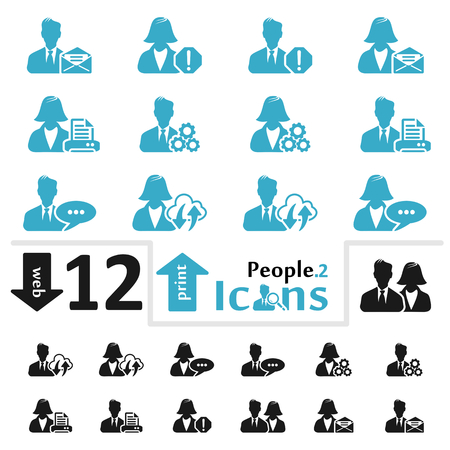 pictorial  representation: Vector people icon set for web and print part two Illustration