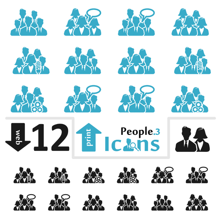 Vector people icon set for web and print part three