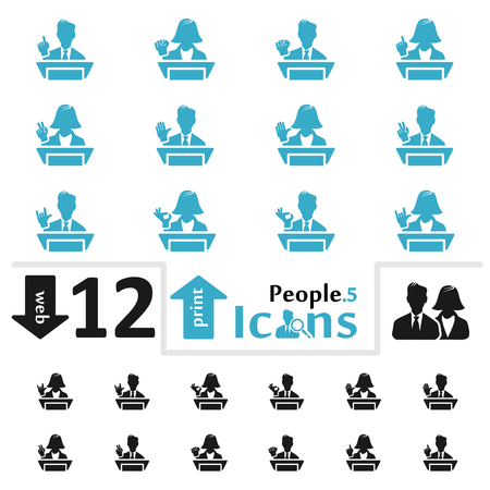 pictorial  representation: Vector people icon set for web and print part five