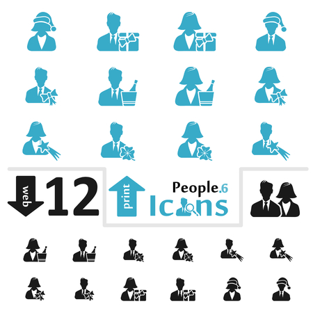 pictorial  representation: Vector people icon set for web and print part six