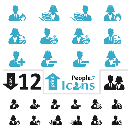 pictorial  representation: Vector people icon set for web and print part seven