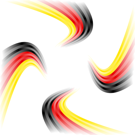 germany flag: Abstract waving German flag isolated on white background Illustration