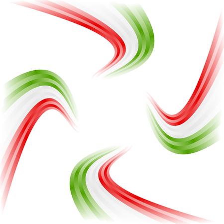 drapeau mexicain: Agitant Résumé italienne, mexicaine, hongrois et iranien drapeau