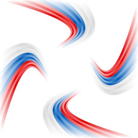 Abstract waving Russian, Czech and Slovakian flag