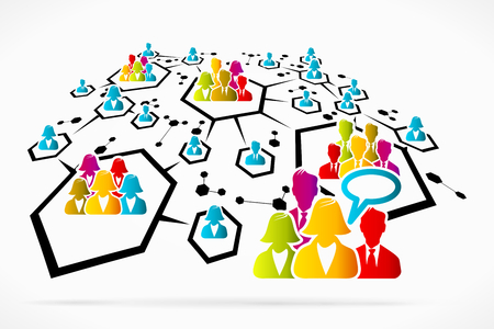 Abstract network communication social media business vector illustration Illustration