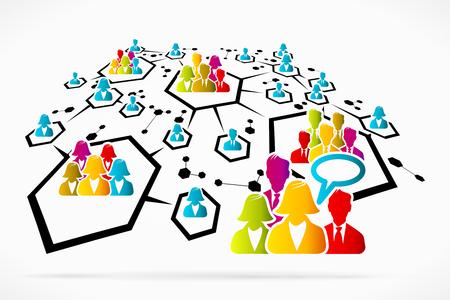 headhunter: Estratto rete di comunicazione social media Business illustrazione vettoriale