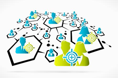 Abstract network targets social media business vector illustration Stock Vector - 22724758