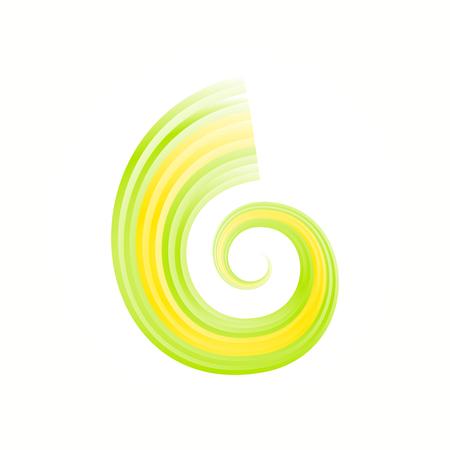 gyration: Abstract Brazilian swirl flag isolated on white background Illustration