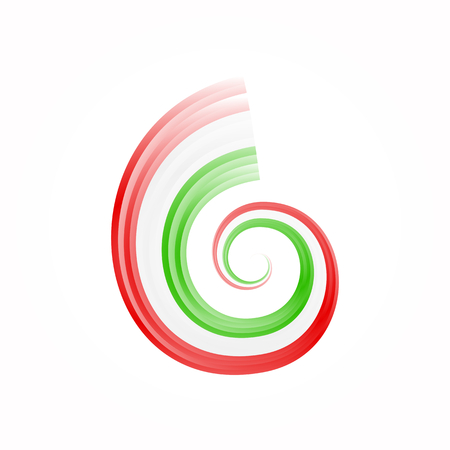 gyration: Abstract swirl Italian, Mexican, Hungarian and Iranian flag