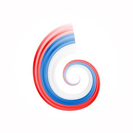 slovakian: Abstract swirl Russian, Czech and Slovakian flag