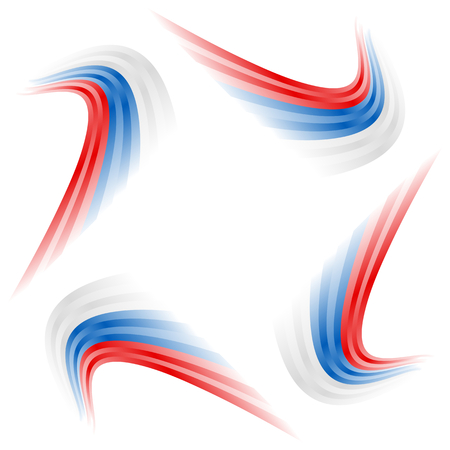 Abstract waving Russian, Czech and Slovakian flag