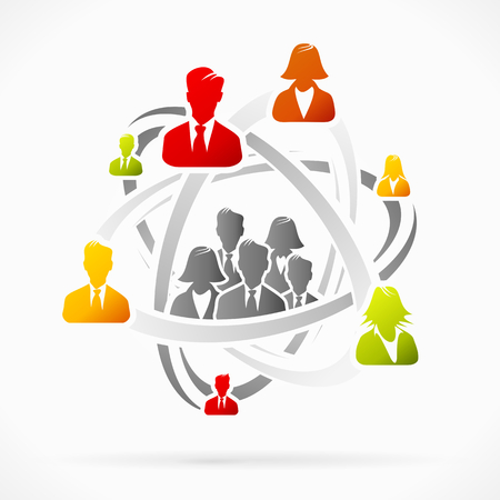 Abstract concept about business group attraction