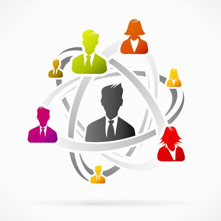 headhunter: Concetto astratto di squadra rete di affari