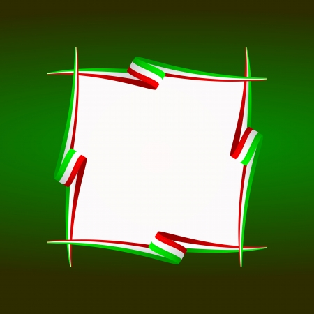 mexican flag: Abstract Italian, Mexican, Hungarian and Iranian frame flag Illustration
