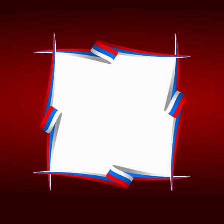 slovakian: Abstract Russian, Czech and Slovakian frame flag