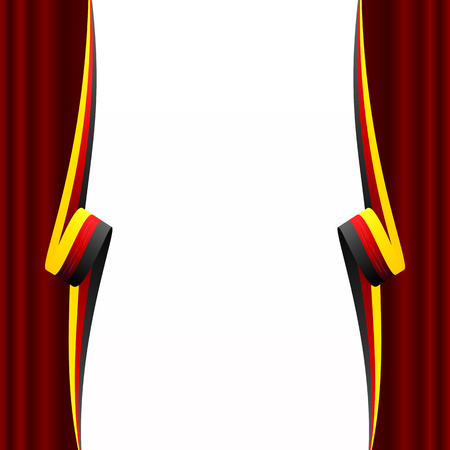 german flag: Abstract German curtain flag isolated on white background