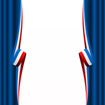 Abstract American, English and French curtain flag Vector