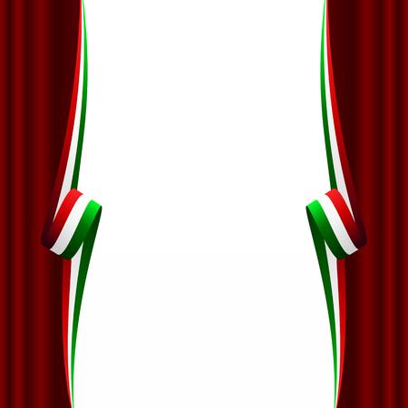 drapeau mexicain: Résumé italienne, mexicaine, hongrois et iranien drapeau de rideau