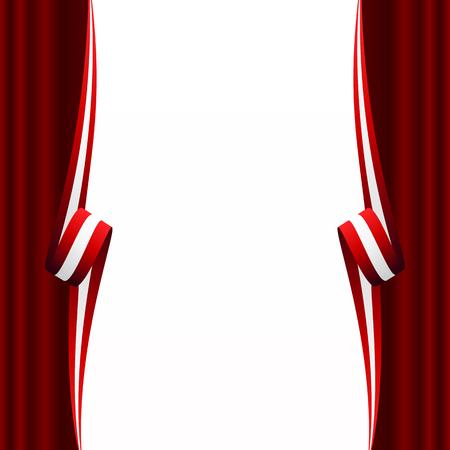 Abstract Austrian, Canadian and Denmark curtain flag Illustration