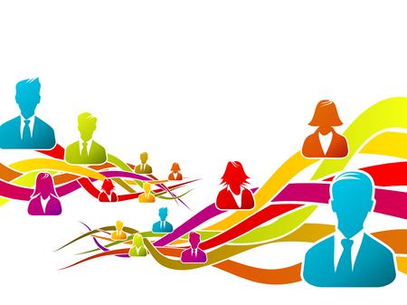 Abstract concept about business people vector illustration Ilustração