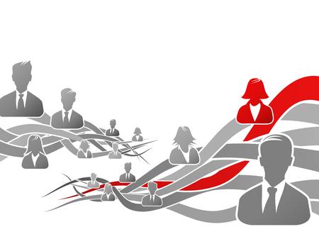 Abstract concept about career path vector illustration Ilustração