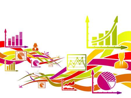Abstracte beweging begrip over infographics vectorillustratie