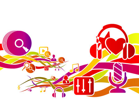 tonality: Abstract motion concept about music vector illustration Illustration
