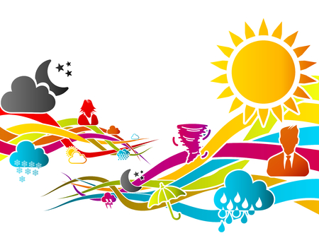 climatology: Abstract motion concept about weather vector illustration Illustration