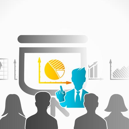 slide show: Slide show presentation speaker among people