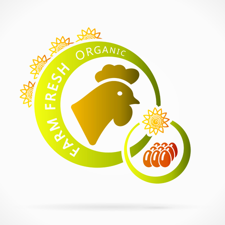 integral: Huevos de pollo org�nicos, frescos de granja ilustraci�n abstracta