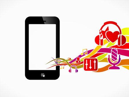 Multimedia phone abstract concept illustration Vector