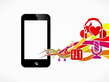 lyric: Multimedia phone abstract concept illustration