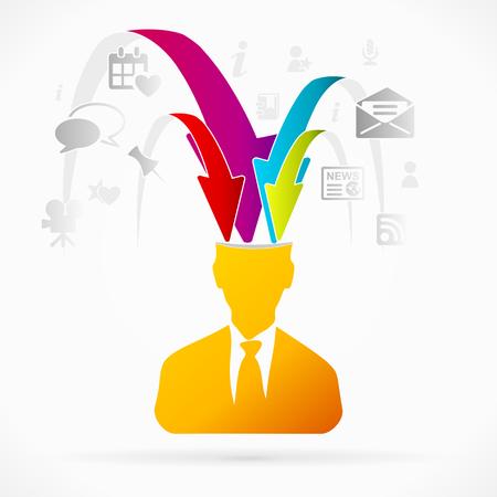Estratto avatar illustrazione vettoriale di raccolta di informazioni