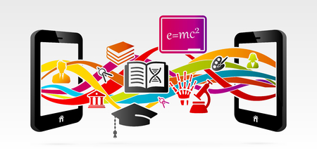 E-learning services using internet connected mobile phone
